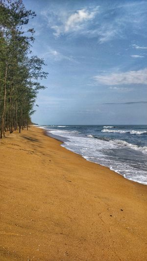 Clear Skies , Wet Sand , A pair of slippers and A DSLR ! Come On Let's Click Memories !