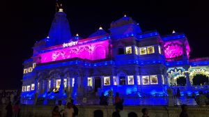 Prem Mandir at Night