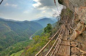 The Mawrynkhang trek/ Bamboo trail trek, Wahkhen, Meghalaya