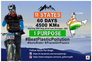 This Man From Gurgaon Is All Set To Cycle From Kashmir to Kanyakumari to #BeatPlasticPollution