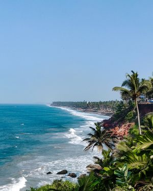 Stunning Picturesque of Varkala, Kerala.