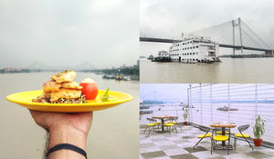 DRINK AND DINE WITH A VIEW OF HOWRAH BRIDGE AT THIS ONLY FLOATING HOTEL IN INDIA.