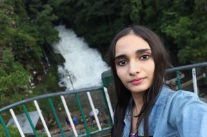THE SELFIE POTRAYS THE VIEW OF BREATHTAKING DAIKTHEN  FALLS  #SelfieWithAView #TripotoCommunity