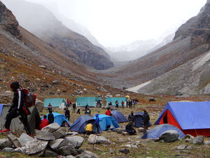 A TRAIL IN MOUNTAIN#FIRST TREK#HAMPTA PASS