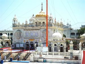 Paying obeisance at Hazur Sahib Nanded; where Guru Gobind Singh breathed his last