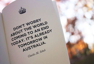 "Canberra (Australia) - A Place where your ""Today"" is already a ""Tomorrow"" there!"