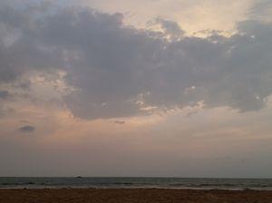 Sunsets at Kudle beach,Gokarna ! Theme: landscapes