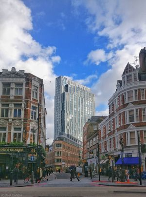 Striding past a busy day in London. #BestTravelPictures Theme : People and Architecture