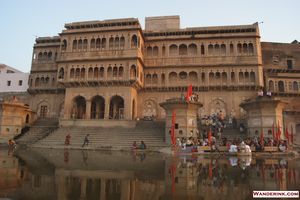 An evening in Vrindavan
