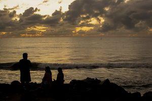 Sunrise at Puducherry beach