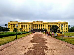 Hailstone rain @Nawab's Land of India  : bike trip to Hazarduari Palace Museum on Marriage Ceremony