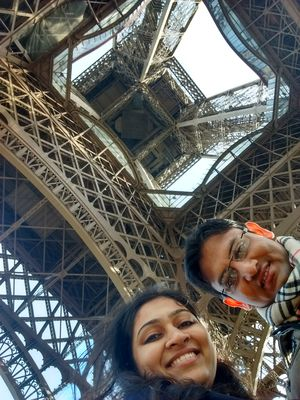 In love with Paris. In love with Eiffel. In love in Paris #SelfieWithAView #TripotoCommunity