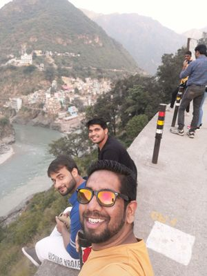 Selfie at Devprayag on a Roadtrip to Tehri Dam #SelfieWithAView #TripotoCommunity