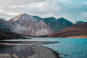 Pangong lake, Leh.