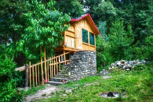 A not on map treehouse in jibhi #colourgreen