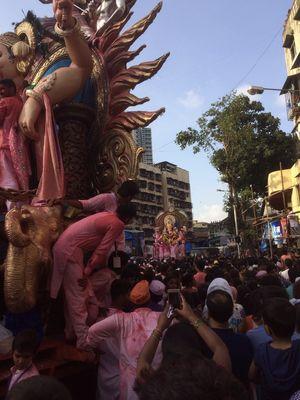 Ganesh festival, visarjan day in Mumbai