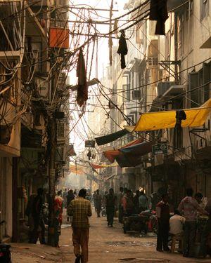 Into the Canvas. Old delhi