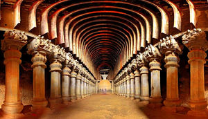 The Ancient Cave Shrines - The Karla Caves At Lonavala