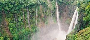 Gods Canvas - Thoseghar Waterfalls : Tall, heavy & lush, these waterfalls fall from a soaring height