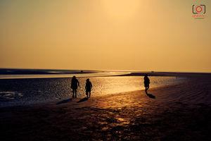 Golden Color Sunset at Bokkhali Sea Beach