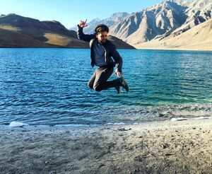 Chandratal- The Moon Lake (14107.61FT above sea level)