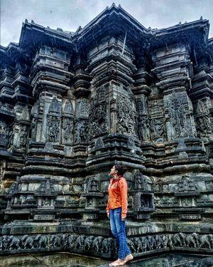 Belur stone carved temple