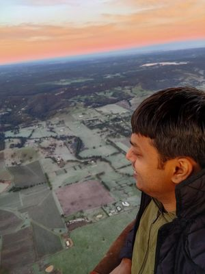 Breathtaking view of sunrise on a Hot Air Balloon Ride #SelfieWithAView #TripotoCommunity