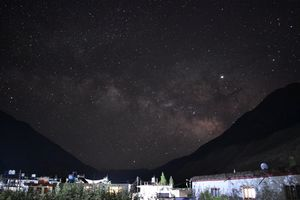 Milky way at Tabo Monastery