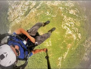 Paragliding is fun, until the wind takes you 25 kms from the landing site