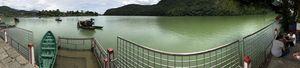 Pano view of The beautiful lakes around Barahi Temple