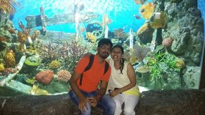 At the one place we both love the most, Sea Life @Bangkok - The second largest aquarium in Asia.