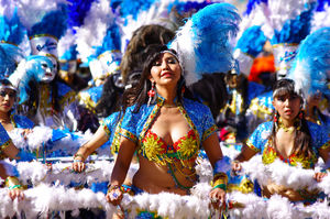 120 hours, with  masterpiece of oral and intengible heritage humanity  in ' Carnaval de Oruro'