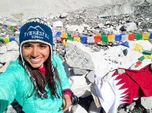 Made it to Everest Base Camp!! What an epic adventure. #SelfieWithAView #TripotoCommunity #everest