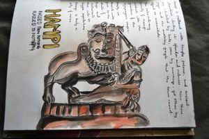 Travel Sketching at Hampi