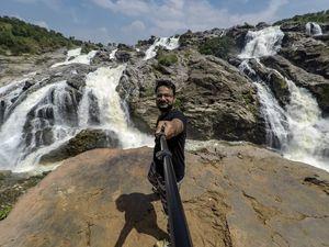GANALU FALLS IN FULL FLOW | 100 KMS FROM BANGALORE | Wanderlust On Wheel