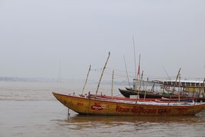 Ganga washing the ghats of kashi