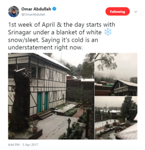 This April Snowfall in Kashmir Is A Beautiful Tragedy We Just Can't Ignore