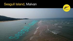 Drone Shot of Seagull Island, Malvan - Maharashtra