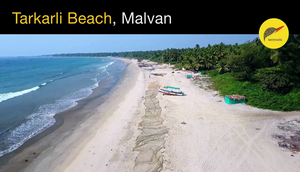 Drone Shot of Tarkarli Beach, Malvan - Maharastra
