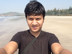 At a secret beach, you wouldn't believe its in Raigad.
