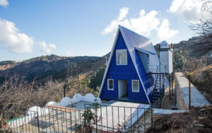 A Bus Ride Away From Delhi, This Gorgeous Blue Cottage In The Hills Is Straight Out Of A Postcard