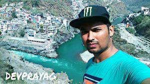 Bhagirathi + alaknanda = maa ganga(sangam) #selfiewithaview #tripotocommunity