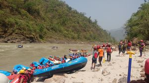 Rafting in Rishikesh #adventure