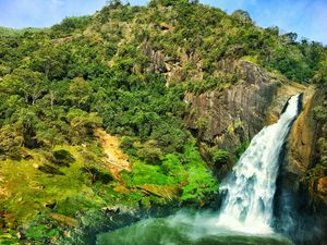 One of the most intense waterfalls in Sri Lanka  #BestTravelPictures