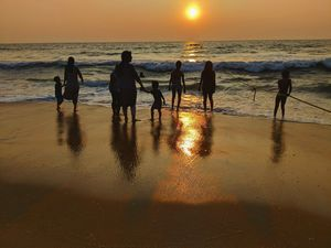 Happiness comes in Waves !!  #sunsetatbeach #tripotocommunity