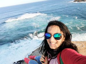 From the most beautiful coastal walk I've ever walked! #selfiewithaview #tripotocommunity