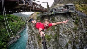 Bungee Jumping: Moment when I can feel my heart beating in my chest