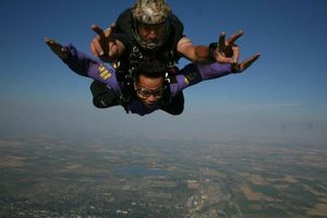 Skydiving!! What could be more exhilarating than jumping out of a plane and free-falling?