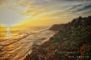 Varkala ,the only cliff side beach of India