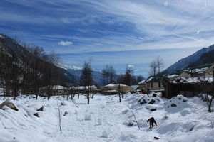 Manali amidst the Snow